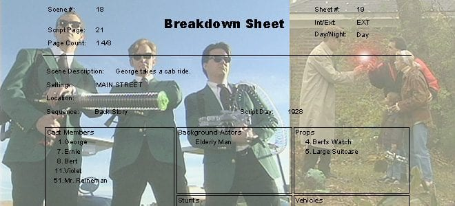 Putting your Shoot in Perspective with a Script Breakdown