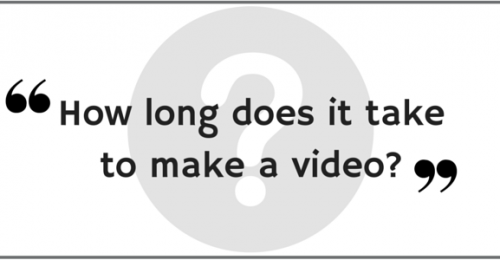 How long does it take to make a video?
